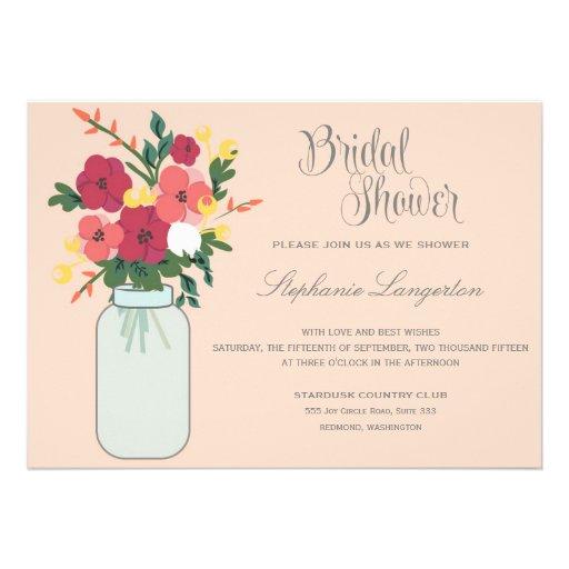 Convite do casamento do frasco de pedreiro - abric