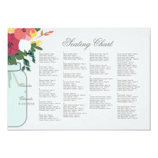 Convite do casamento do frasco de pedreiro - azul