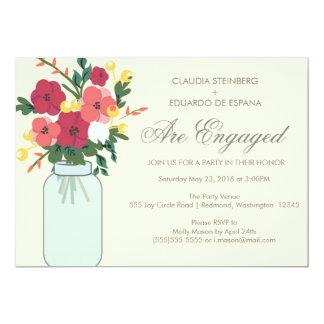Convite do casamento do frasco de pedreiro - louro