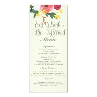 Convite do casamento do frasco de pedreiro - louro convite 10.16 x 23.49cm