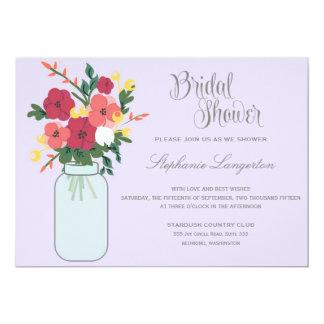Convite do casamento do frasco de pedreiro - Ube