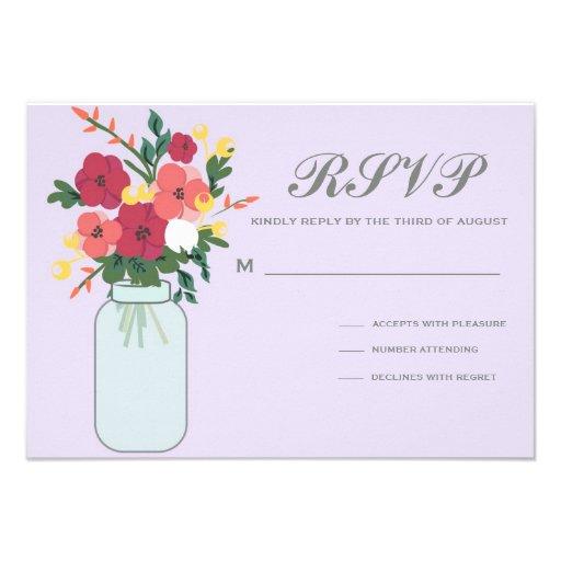 Convite do casamento do frasco de pedreiro - Ube P