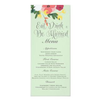 Convite do casamento do frasco de pedreiro - verde convite 10.16 x 23.49cm