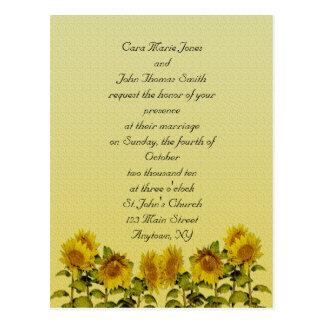 Convite do casamento do girassol
