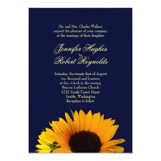 Convite do casamento do girassol de BlueII