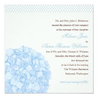 Convite do casamento do Hydrangea