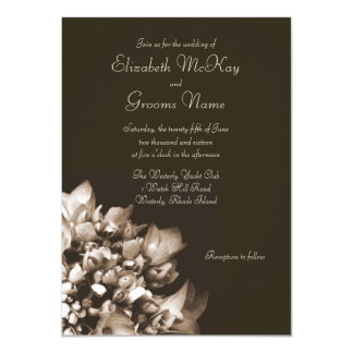 Convite do casamento do Hydrangea do Sepia