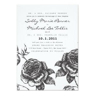 Convite do casamento do jardim de rosas