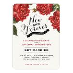 Convite do casamento do jardim de rosas do vintage
