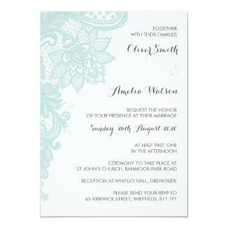Convite do casamento do laço da hortelã