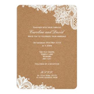 Convite do casamento do laço de Kraft