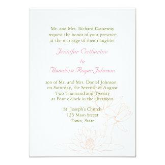 Convite do casamento do lírio de água