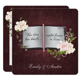 Convite do casamento do livro da história