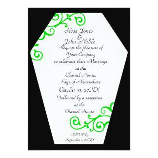 Convite do casamento do marfim de Keranda (limão)