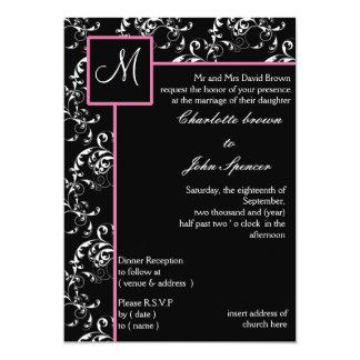 Convite do casamento do monograma