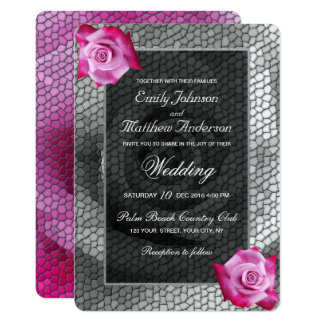 Convite do casamento do mosaico das cinzas de