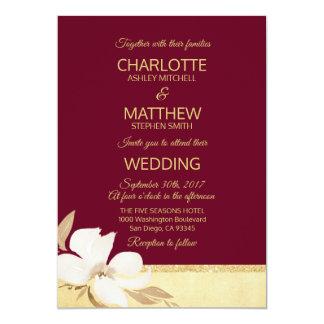 Convite do casamento do ouro de Borgonha da