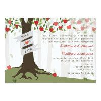 Convite do casamento do outono da queda do pomar