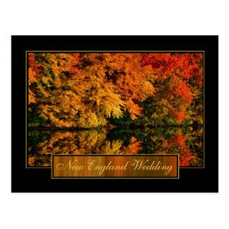 Convite do casamento do outono de Nova Inglaterra Cartão Postal