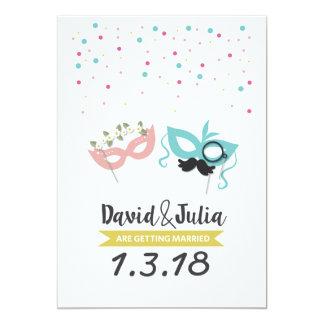Convite do casamento do partido do traje