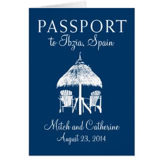 Convite do casamento do passaporte da espanha de
