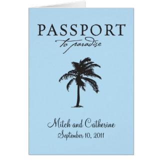 Convite do casamento do passaporte de Antígua