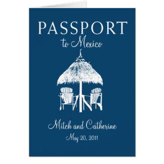Convite do casamento do passaporte de Cancun