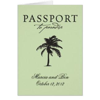 Convite do casamento do passaporte de México