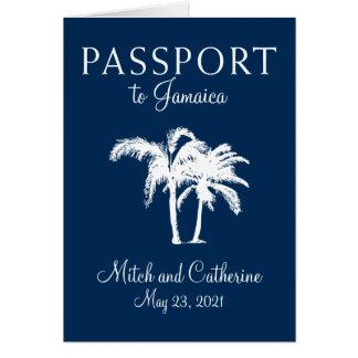 Convite do casamento do passaporte de Montego Bay