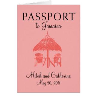Convite do casamento do passaporte de Ocho Rios