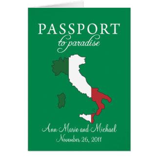 Convite do casamento do passaporte de Ravello
