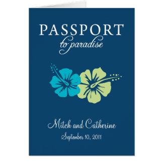 Convite do casamento do passaporte do Maya de