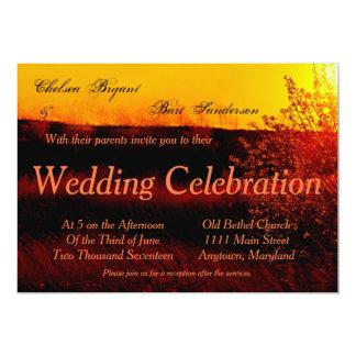 Convite do casamento do por do sol do Dogwood