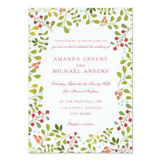 Convite do casamento do prado do Wildflower