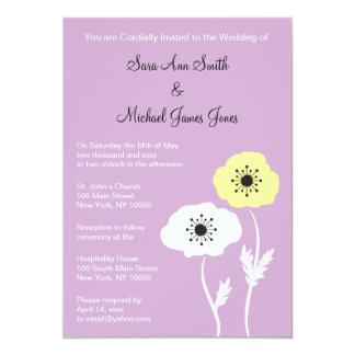 Convite do casamento do primavera da papoila da