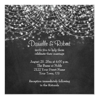 Convite do casamento do quadro das luzes