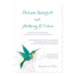 Convite do casamento do redemoinho 5x7 do colibri