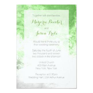Convite do casamento do redemoinho da aguarela -
