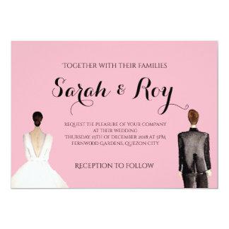 Convite do casamento do retrato de Sarah - página