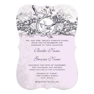 Convite do casamento do rolo da lavanda dos