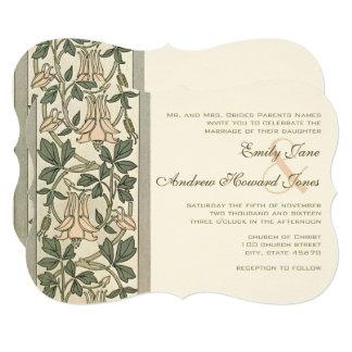 Convite do casamento do rosa da madressilva de