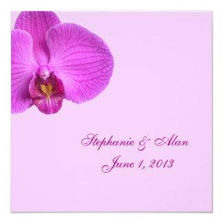 Convite do casamento do rosa quente com RSVP Convite Quadrado 13.35 X 13.35cm