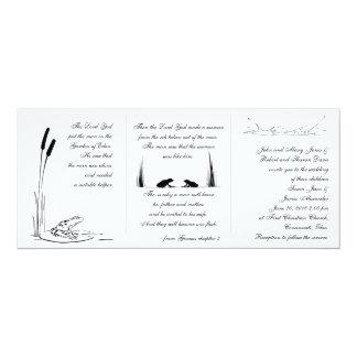 Convite do casamento do sapo - religioso