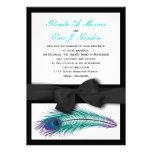 Convite do casamento do smoking do pavão