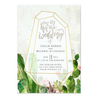 Convite do casamento do Succulent do deserto -