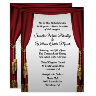 Convite do casamento do tema do filme da tela