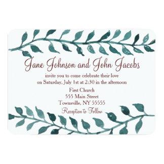 Convite do casamento do vinho e da videira