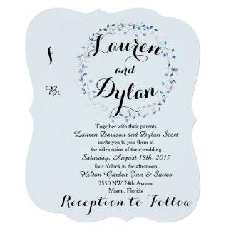 Convite do casamento dos azuis bebés