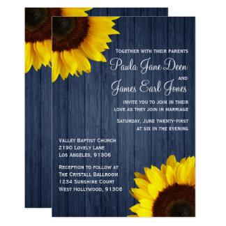 Convite do casamento dos azuis marinhos & do