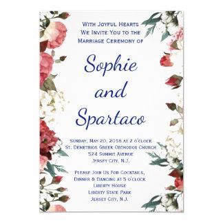 convite do casamento floral